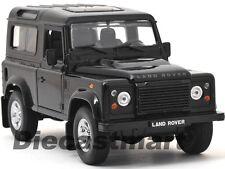 WELLY 1:24 LAND ROVER DEFENDER DIECAST MODEL CAR SUV BLACK 22498 NEW