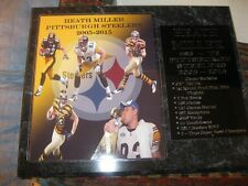 Heath Miller Pittsburgh Steelers statistics plaque - New Lower Pricing!!
