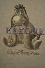 Disney World Eeyore T-Shirt Winnie The Pooh Raised Letters Size Medium