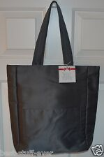 NEW BATH & BODY WORKS GRAY TOTE CANVAS BAG SHINY PURSE VIP CUTE LAPTOP COMPUTER
