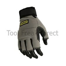 Stanley Fingerless Work Gloves  Safety Grey Black Size Large SY640L Free p+p