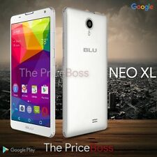 "Blu Neo XL 6.0"" HD Phone 4G 8MP Android Unlocked GSM White N110U New"