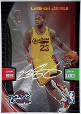 2009-10 Adrenalyn XL LEBRON JAMES Holo-Foil Ultimate Signature Rare Cavs SP 1:23