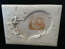 White Calla Lily Lillies wedding guest book signatures reception