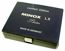 MINOX LX Platin limited 8x11 No. 356 neu new Germany classic miniature camera