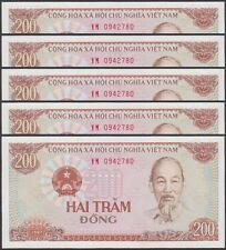 TWN - VIETNAM 100a - 200 Đồng 1987 UNC Dealers x 5 - FREE SHIPPING €150+