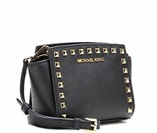 MICHAEL KORS LADIES LEATHER HANDBAG to SHOULDER hand Studded Selma Medium