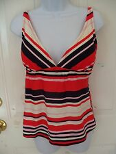 Merona Striped Swim Top Size Large Women's NEW LAST ONE NO LONGER SOLD