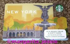 STARBUCKS US GIFT CARD NEW YORK CITY NYC 2014 Central Park Waterfall Series 6109