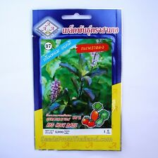 Thai Red Holy Basil seeds - Krapow Daeng/Gra prao - 1 gram / 2,000 - UK Seller