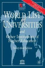 World List of Universities and Other Institutions of Higher Education: Twenty-Th
