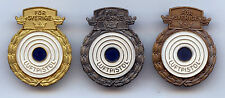 Sweden Air Pistol Shooting Award Full Set Badge High Grade !!!
