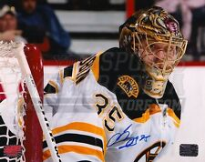 Anton Khudobin Boston Bruins Signed Autographed Goaltending Upclose 8x10