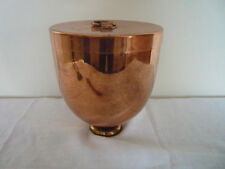"""Huge Country House Kitchen Antique Copper & Brass """"Bombe"""" Shape Ice Cream Mould"""