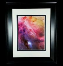 Hubble Telescope, Orion Nebula Gas Dust Turbulence: Matted Framed Wall Art Print