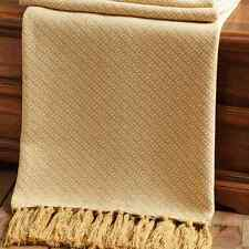 SUNSET SINGLE FABRIC COTTON LOOM WOVEN THROW WITH TASSELS 50X60""