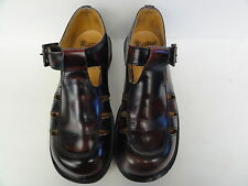 ladies DR Martens mary jane t straps brown leather sandals  US size 8