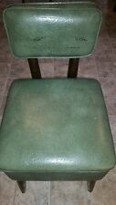 Vintage Gilbert Ryan Sewing Chair Storage Seat Mid Century Retro Green REDUCED$$