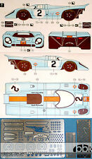 1/24 DECAL + PE DETAIL PORSCHE 917K GULF #1 #2 #245 1971 MONZA 1000Km for FUJIMI