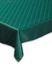 70 X 108 INCH OBLONG 178 X274CM TABLECLOTH BOTTLE GREEN TRELLIS DESIGN NON IRON