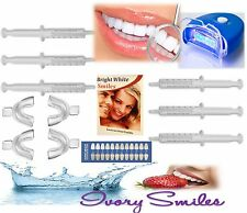 Teeth Whitening Strong Quality Gel At Home Dental Whitener 30ml 5 LEDs UV Light