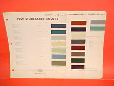 1952 STUDEBAKER CHAMPION COMMANDER REGAL CONVERTIBLE LAND CRUISER PAINT CHIPS 52