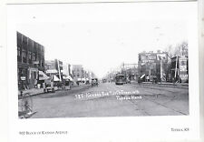 "*Postcard-""900 Block of Kansas Avenue"" -1908-   Classic   *Topeka, Kansas (#138)"