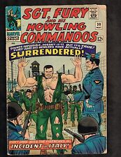 Sgt Fury and his Howling Commandos #30 ~ Incident In Italy ~ 1966 (3.0) WH