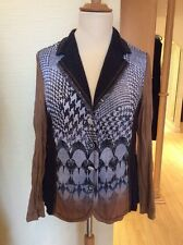 Just White Jacket Size 18 BNWT Navy Brown Sequin Detail RRP £127 NOW £57