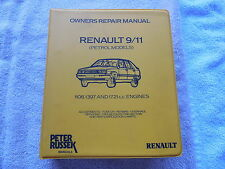 Renault 9 11 Owner Repoair Manual Peter Russek 7701387790