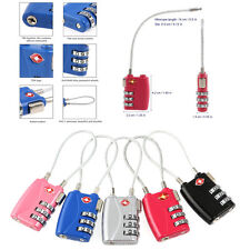5pcs 3 Digit Combination Resettable TSA Travel Lock Luggage Suitcase Padlock