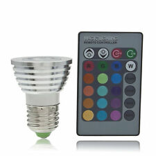 5W E27 Multi Color Change RGB LED Light Bulb Lamp with Remote Control OE