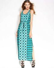 XL NWT MICHAEL KORS ISLAND BLUE DIAMOND MAXI DRESS $150