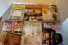Set of 6 Kitchen and Bathroom Planning books Architectural design 2007 home