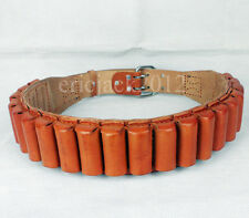 Outdoor Sports Hunting Belt Leather Ammo Case Belt Ammo Holder-D385