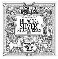 Ernie Ball 2406 Black & Silver Nylon Strings Guitar Strings Free US Shipping!