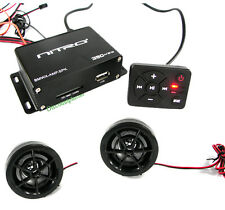 Nitro BMWx-AMP.SPK 2CH 350W Motorcycle Atv Cart Mp3 Audio Amp & Speakers System