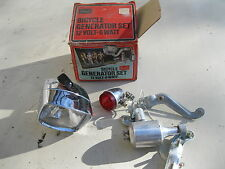 Vintage Sears Bike Generator LIGHT SET CHROME 12VOLT 6 WATT