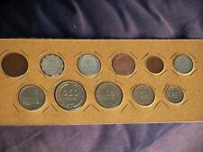 FULL PRUTA 11 Coin set  Israel 1949 to 1960 excl. the silver 500 prutah