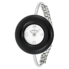 Marc By Marc Jacobs Donut White Dial Black Stainless Steel Bangle Ladies Watch