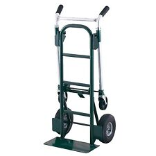 New Dual Purpose Hand Truck Dolly 900 lb Capacity Convertible Blue Utility Cart