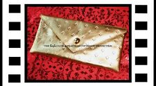 Barbie Blonde Collection Gold Leather Envelope Clutch For The Collector, Mattel