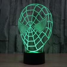 Spider Super Man Lamp 3D Optical Illusion LED Night Light Table Desk Lamp