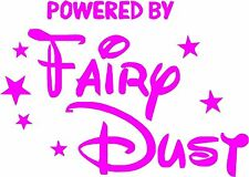 Powered By Fairy Dust Fun Sticker Decal Graphic Vinyl Label Pink