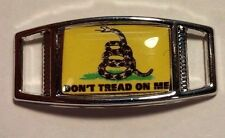 Lot Of 2 Gadsen Flag DON'T TREAD ON ME Shoelace Charms For Paracord Projects