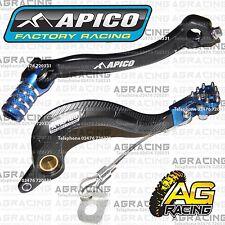 Apico Black Blue Rear Brake & Gear Pedal Lever For Yamaha YZ 250F 2016 Motocross
