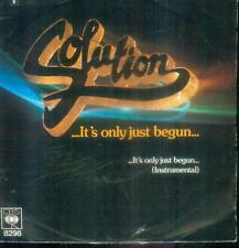 "7"" Solution/It´s Only Just Begun (NL)"