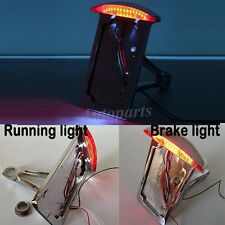 Motorcycle Vertical Mount License Plate Tail Light Bracket FOR Chopper Harley US