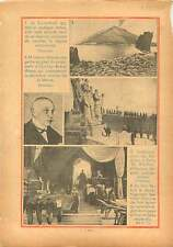 Stomboli Italy/Albert Lebrun Monument d'Oulchy-Breny Aisne WWI 1936 ILLUSTRATION