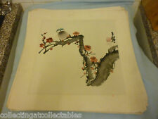 Chinese Ink Wash Painting  (Signed with artist Seal) one Bird On Flora